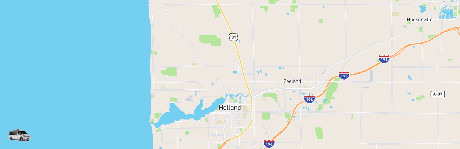 Class B RV Rentals Map Holland, MI