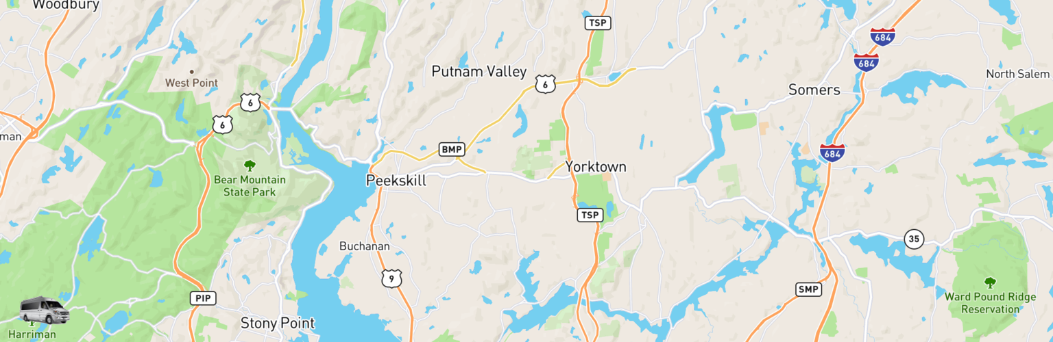 Class B RV Rentals Map Hudson Valley, NY
