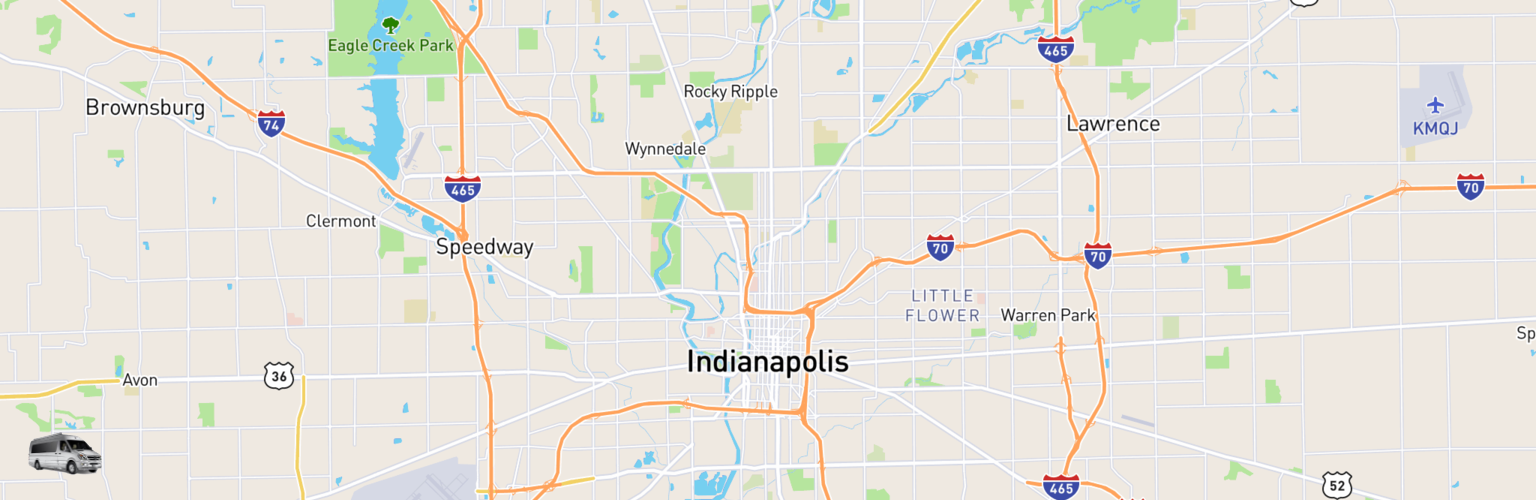 Class B RV Rentals Map Indianapolis, IN