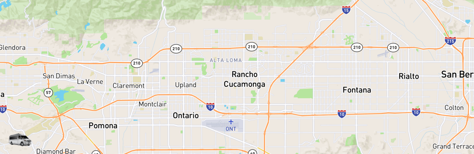 Class B RV Rentals Map Inland Empire, CA