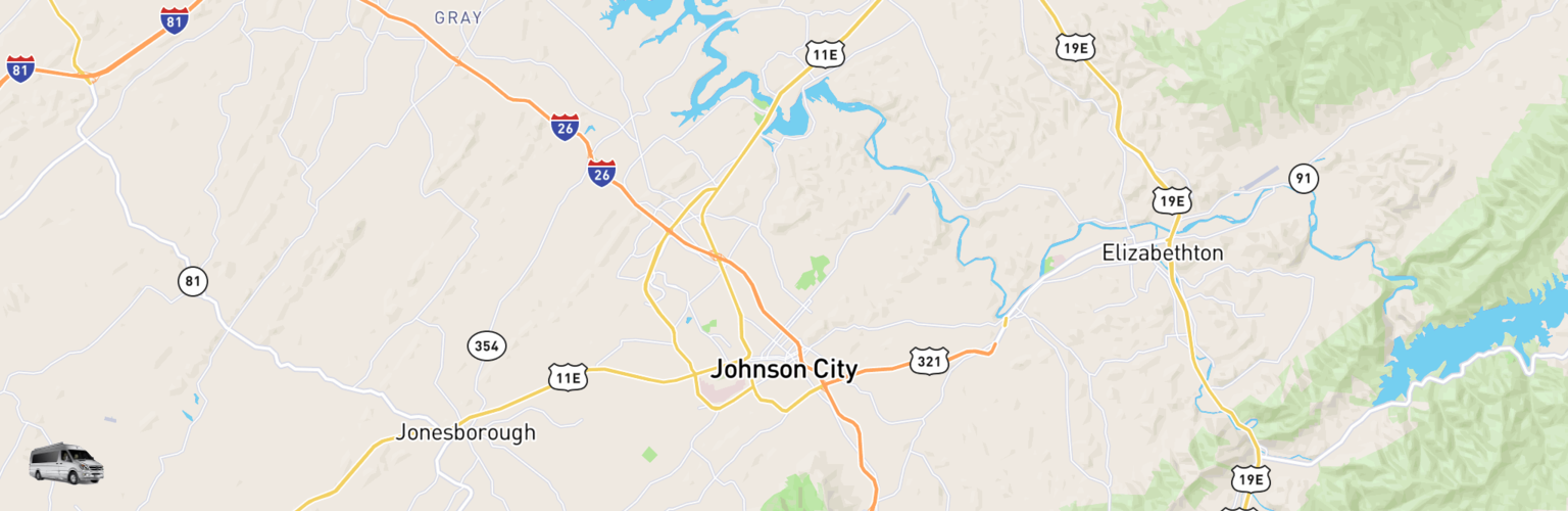 Class B RV Rentals Map Johnson City, TN