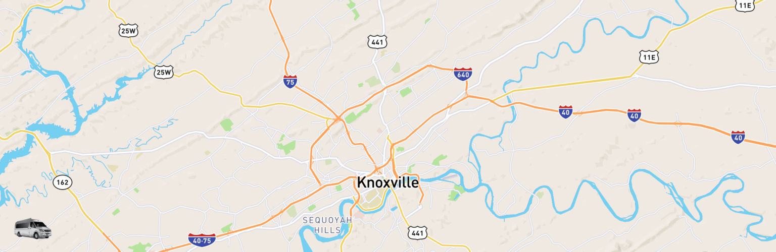 Class B RV Rentals Map Knoxville, TN
