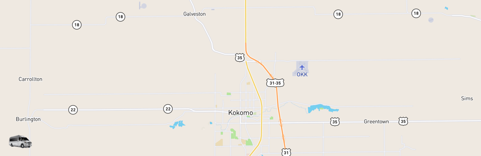 Class B RV Rentals Map Kokomo, IN