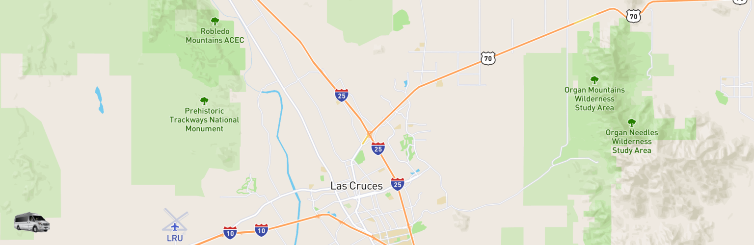 Class B RV Rentals Map Las Cruces, NM