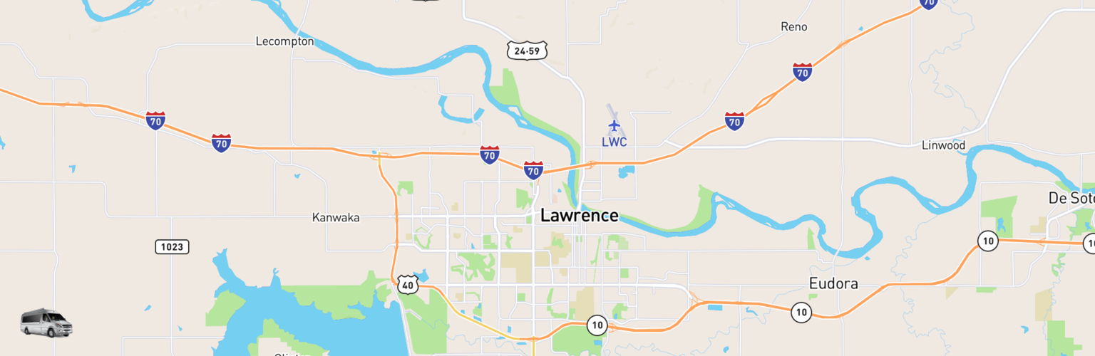 Class B RV Rentals Map Lawrence, KS