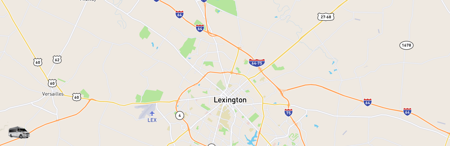 Class B RV Rentals Map Lexington, KY