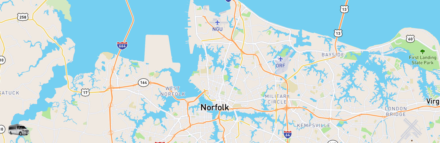 Class B RV Rentals Map Norfolk, VA