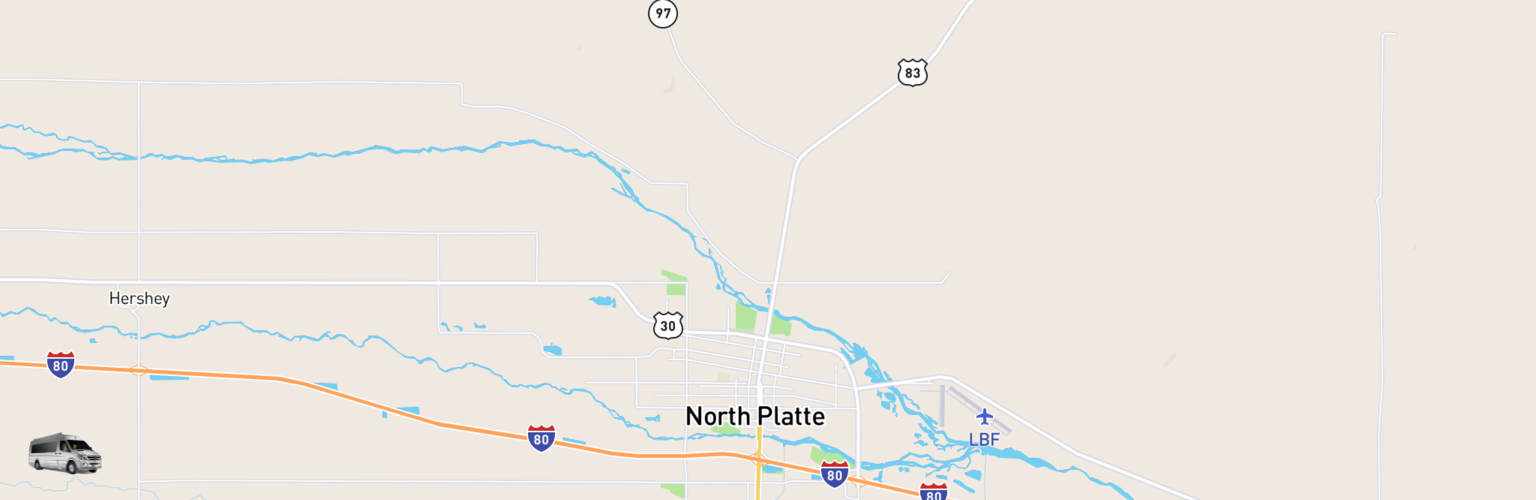 Class B RV Rentals Map North Platte, NE