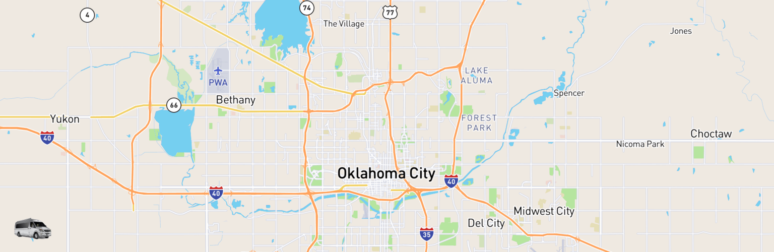 Class B RV Rentals Map Oklahoma City, OK
