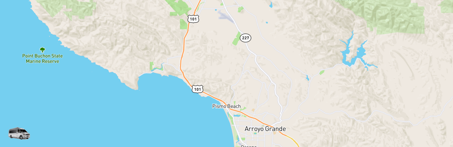 Class B RV Rentals Map Pismo Beach, CA