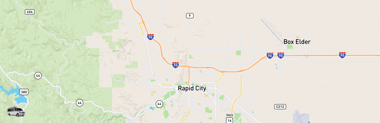Class B RV Rentals Map Rapid City, SD