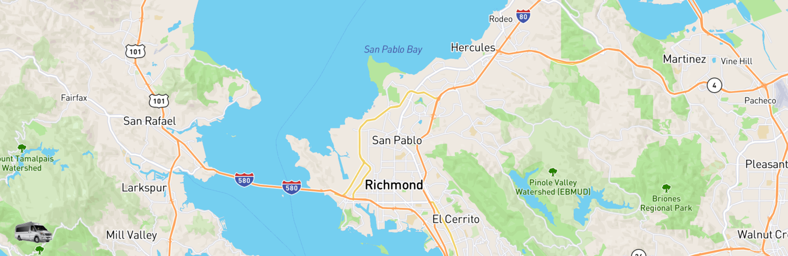 Class B RV Rentals Map Richmond, CA