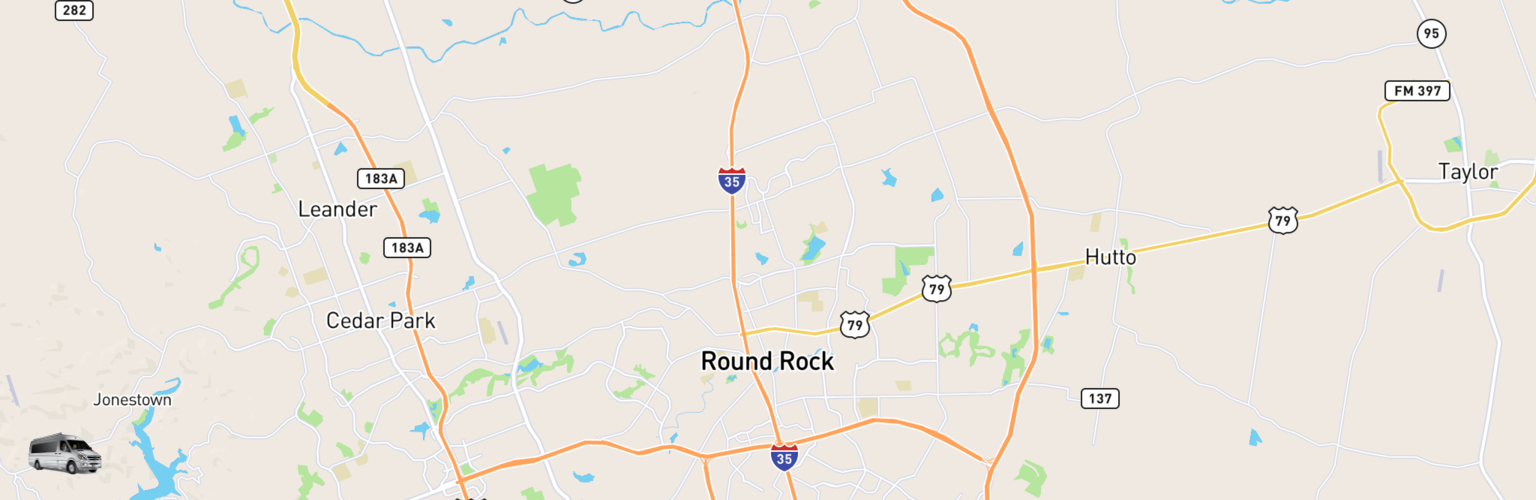 Class B RV Rentals Map Round Rock, TX