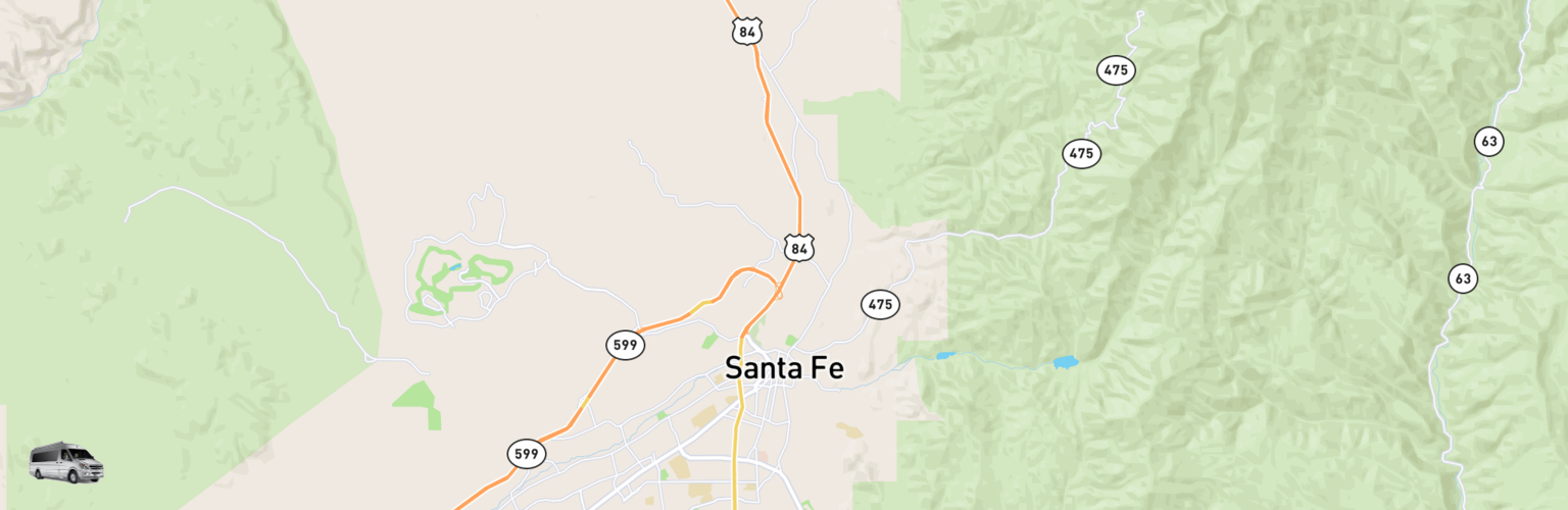 Class B RV Rentals Map Santa Fe, NM