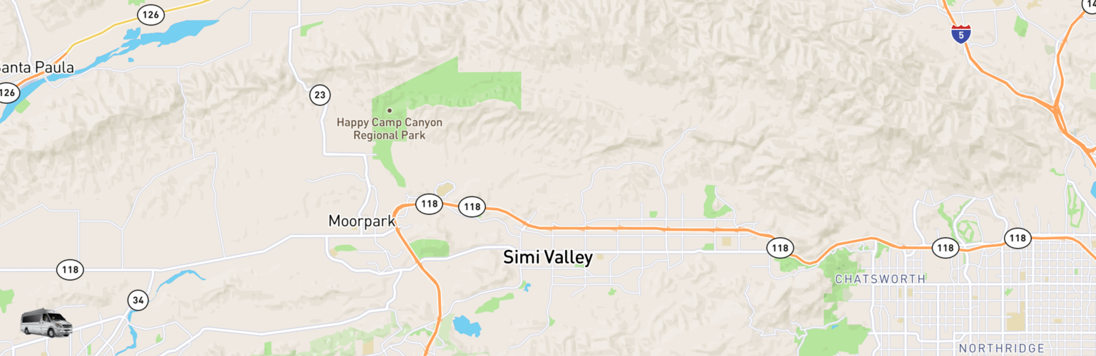 Class B RV Rentals Map Simi Valley, CA