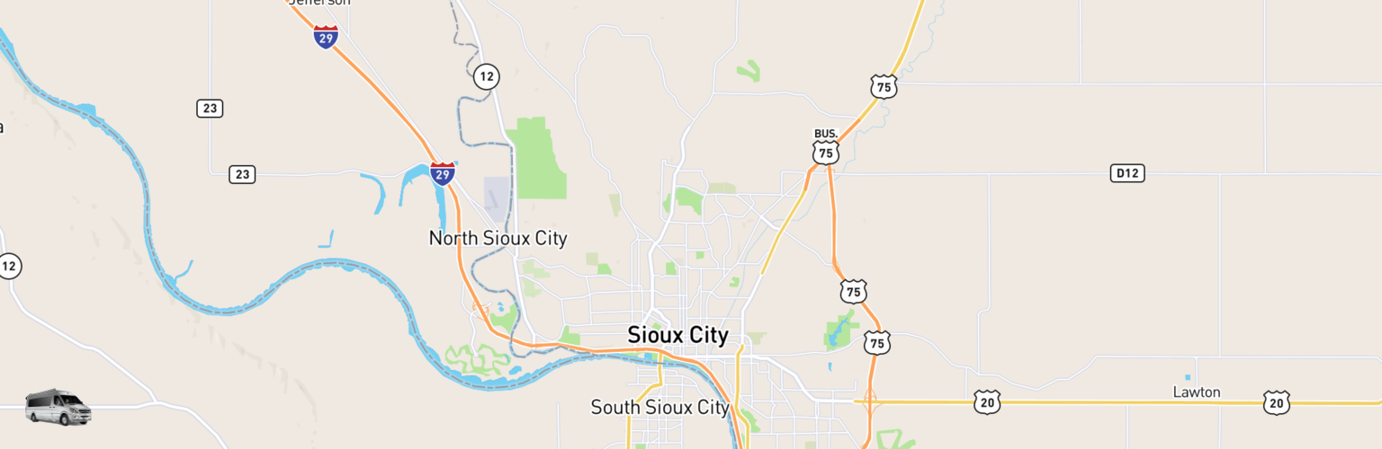 Class B RV Rentals Map Sioux City, IA