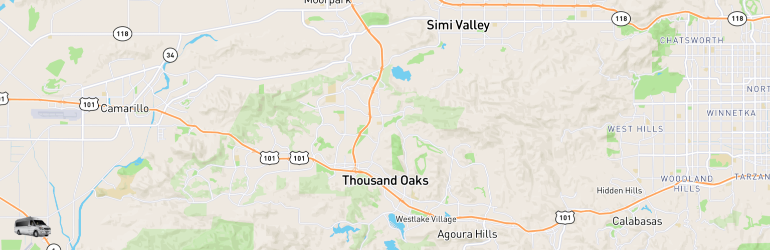 Class B RV Rentals Map Thousand Oaks, CA
