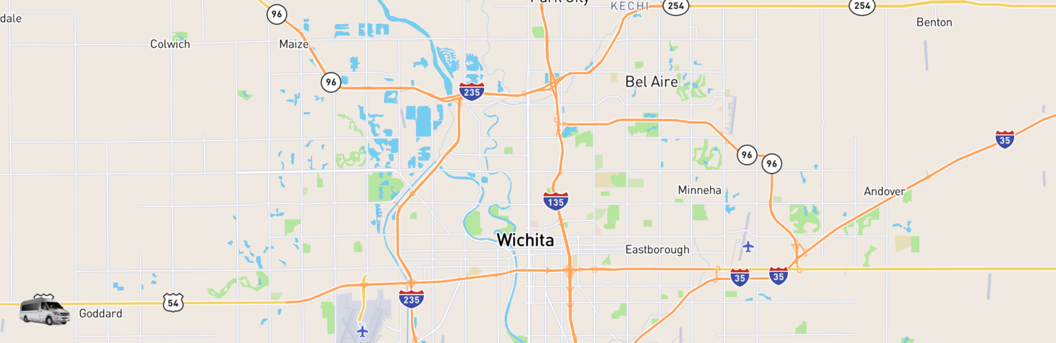 Class B RV Rentals Map Wichita, KS