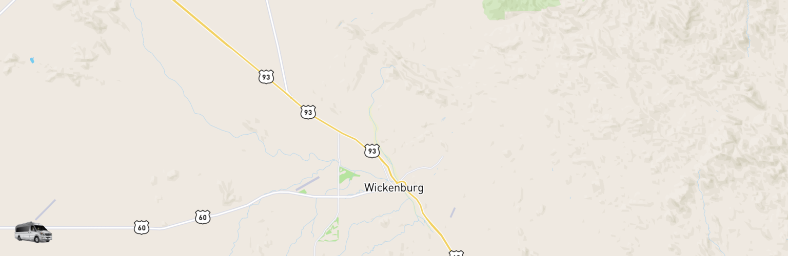 Class B RV Rentals Map Wickenburg, AZ