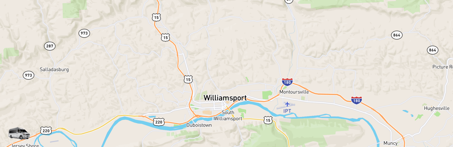 Class B RV Rentals Map Williamsport, PA