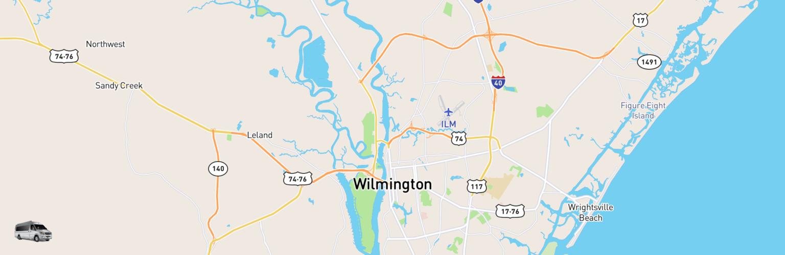 Class B RV Rentals Map Wilmington, NC