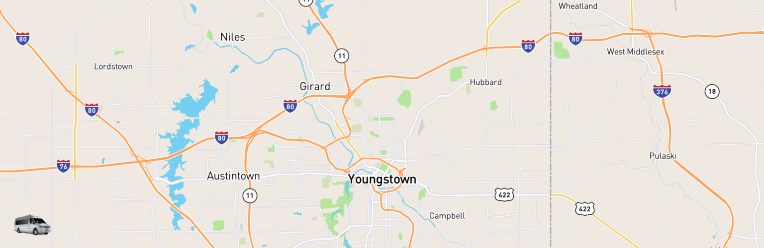 Class B RV Rentals Map Youngstown, OH