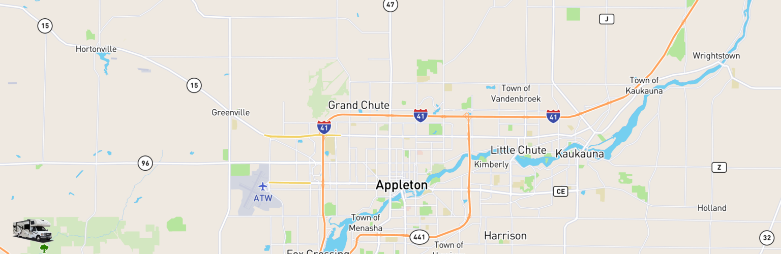 Class C RV Rentals Map Appleton, WI