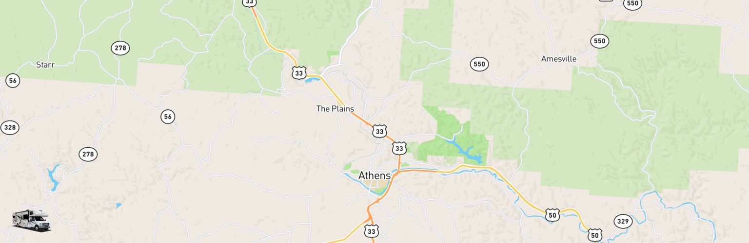 Class C RV Rentals Map Athens, OH