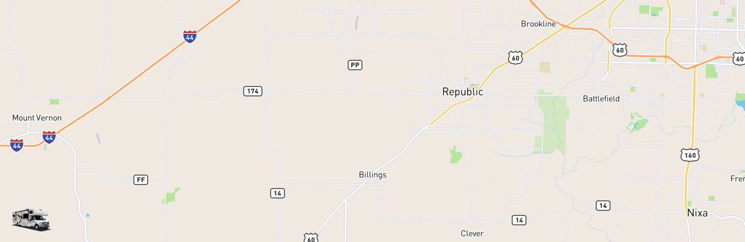 Class C RV Rentals Map Billings, MO