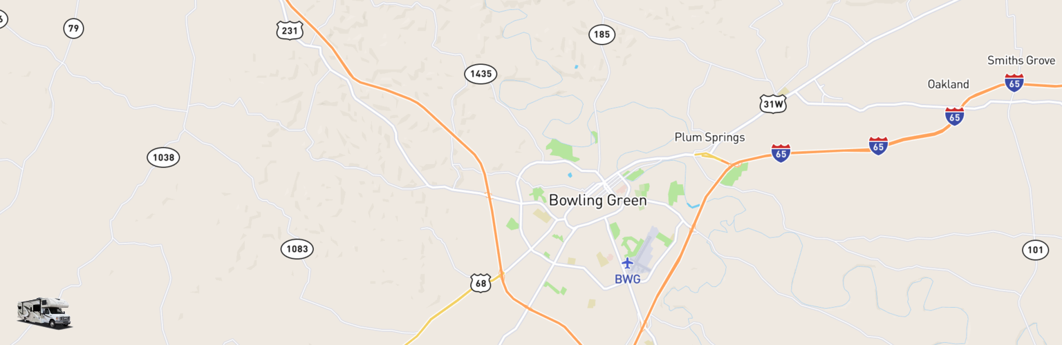 Class C RV Rentals Map Bowling Green, KY