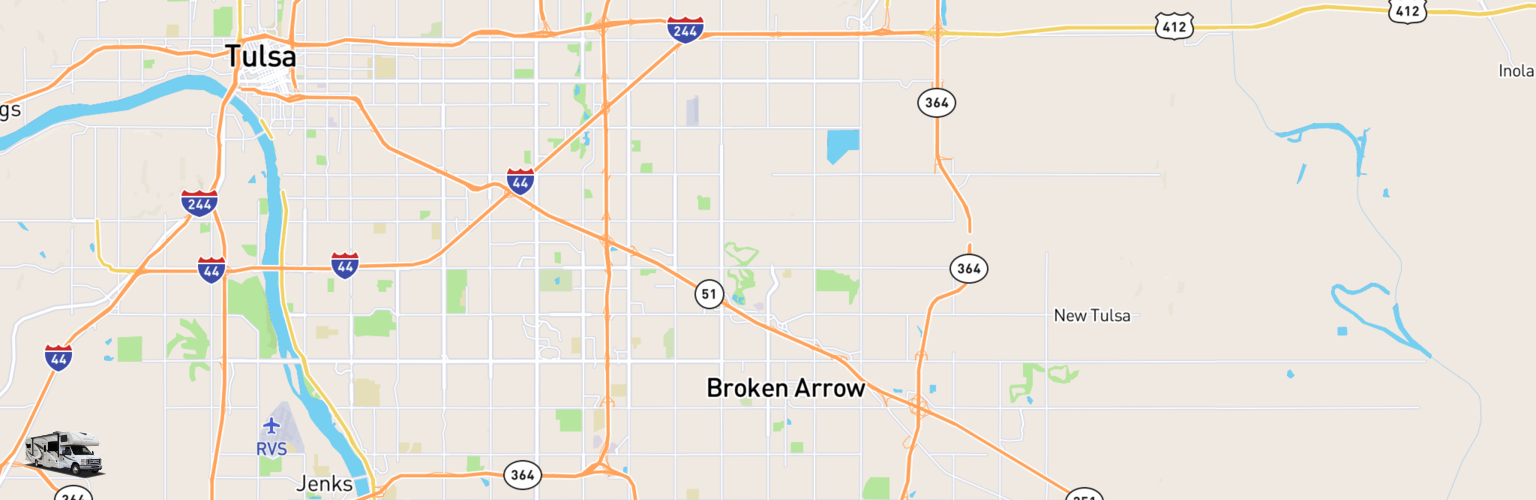 Class C RV Rentals Map Broken Arrow, OK