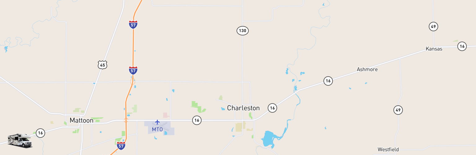 Class C RV Rentals Map Charleston Mattoon, IL