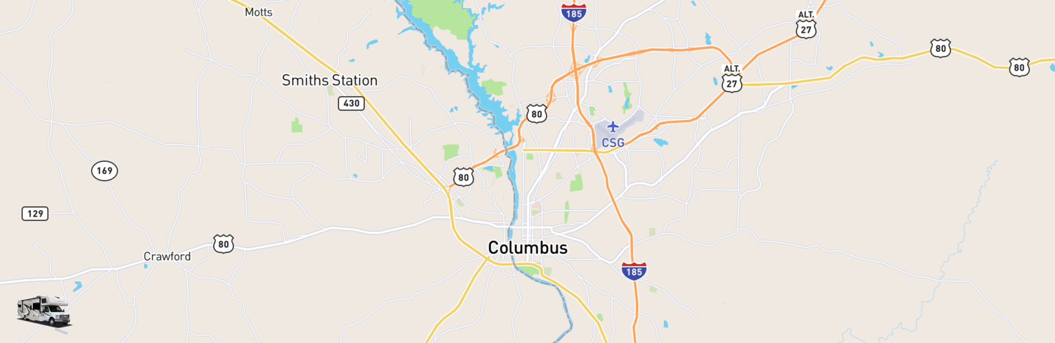 Class C RV Rentals Map Columbus, GA
