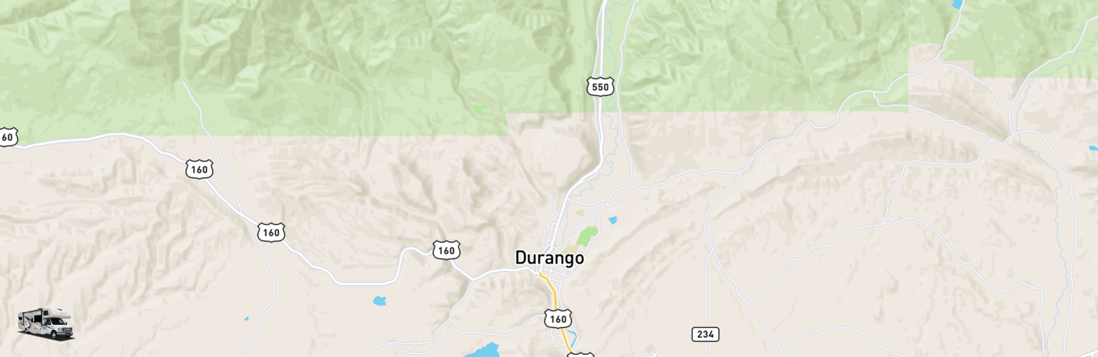 Class C RV Rentals Map Durango, CO