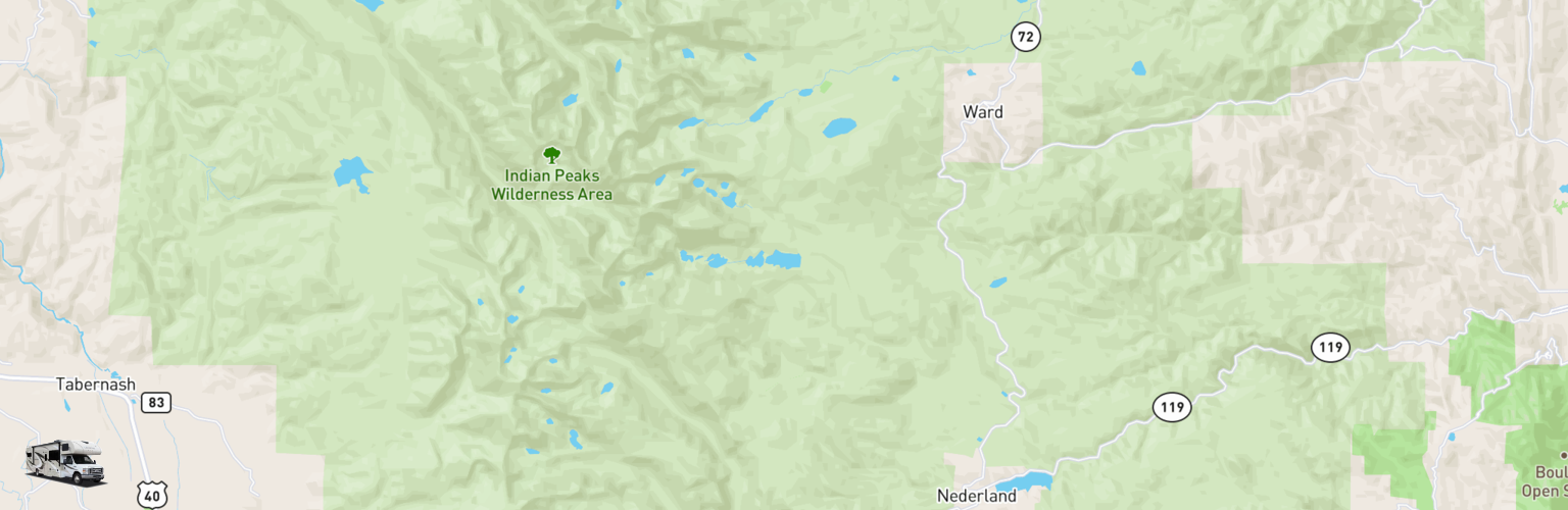 Class C RV Rentals Map Eastern Slope, CO