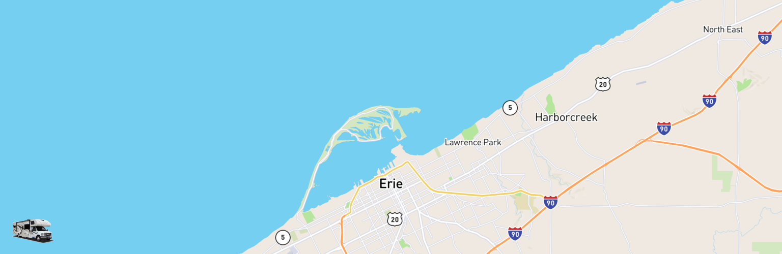Class C RV Rentals Map Erie, PA