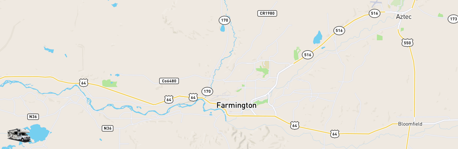 Class C RV Rentals Map Farmington, NM