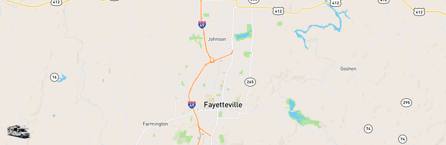Class C RV Rentals Map Fayetteville, AR