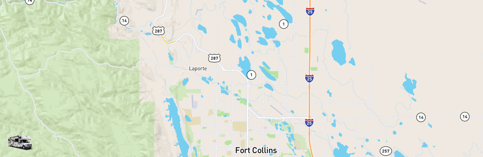Class C RV Rentals Map Fort Collins, CO