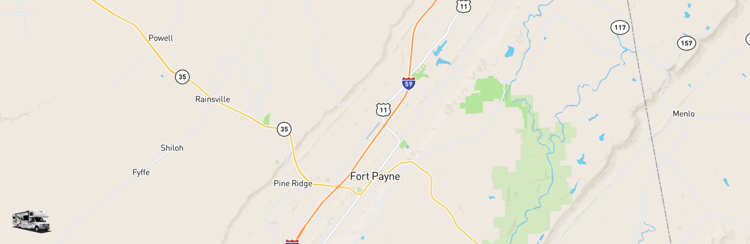 Class C RV Rentals Map Fort Payne, AL