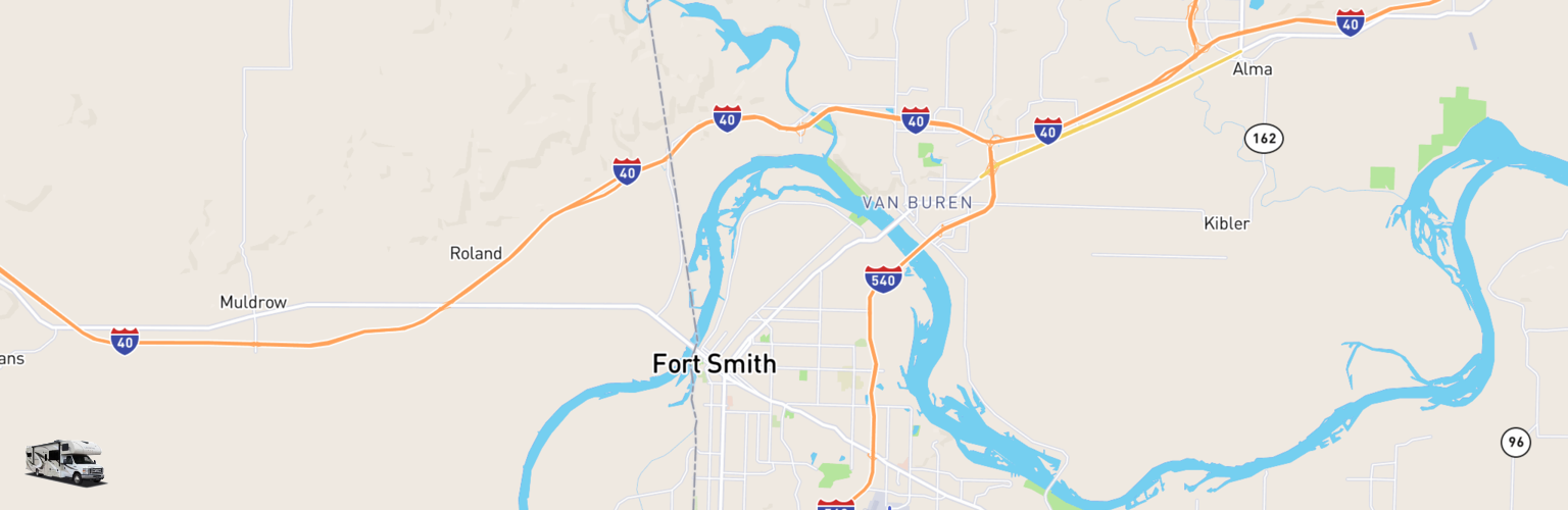 Class C RV Rentals Map Fort Smith, AR