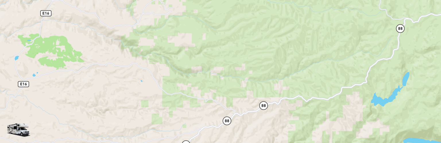 Class C RV Rentals Map Gold Country, CA
