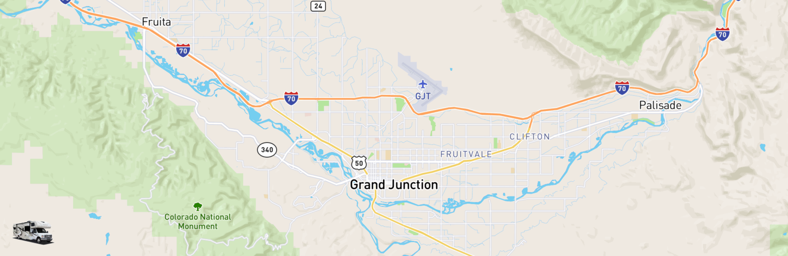 Class C RV Rentals Map Grand Junction, CO