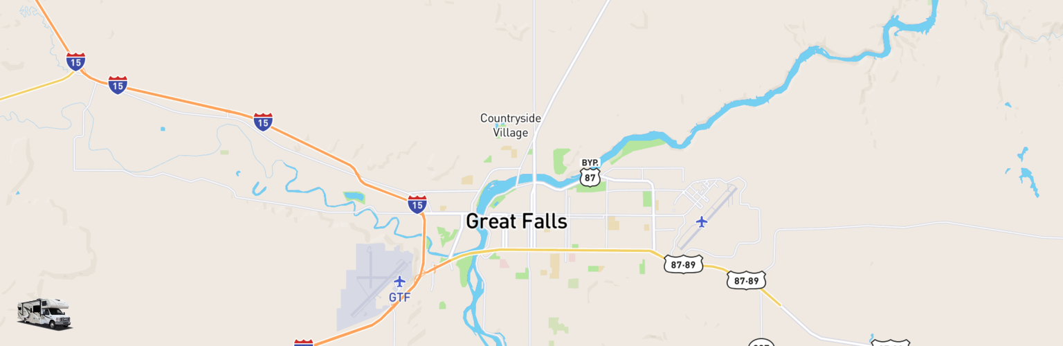 Class C RV Rentals Map Great Falls, MT