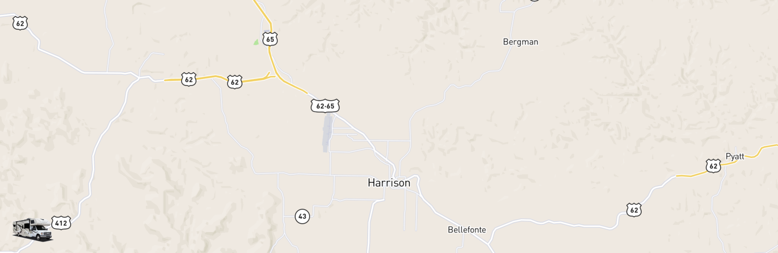 Class C RV Rentals Map Harrison, AR