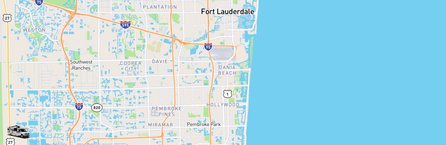 Class C RV Rentals Map Hollywood, FL