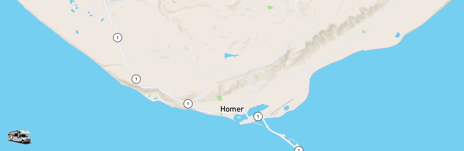 Class C RV Rentals Map Homer, AK