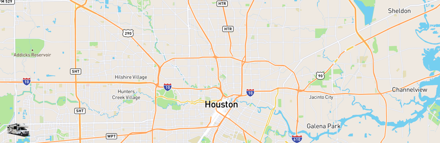 Class C RV Rentals Map Houston, TX