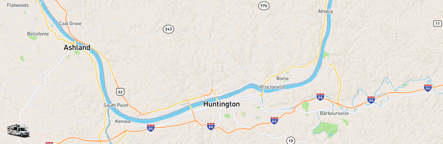 Class C RV Rentals Map Huntington, WV