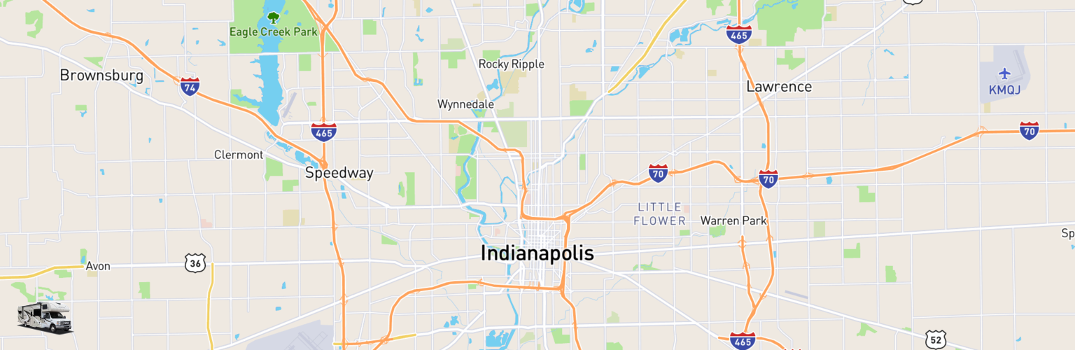 Class C RV Rentals Map Indianapolis, IN
